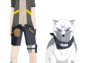 Инузука Кенджи и белый пёс